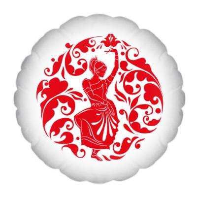 Подушка Русско-индийский мотив