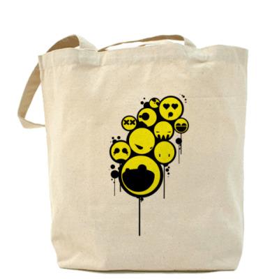 Сумка Холщовая сумка Smiley