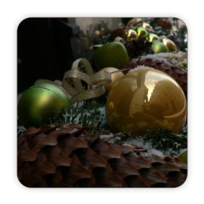 Костер (подставка под кружку) Новый год