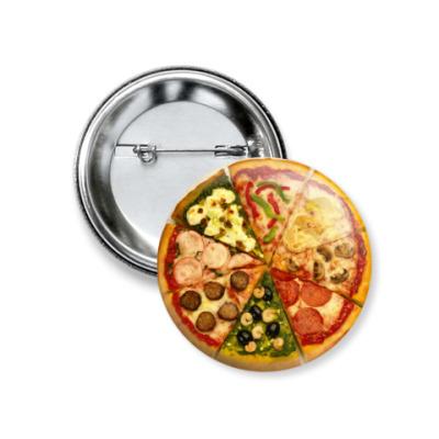 Значок 37мм  'Пицца'