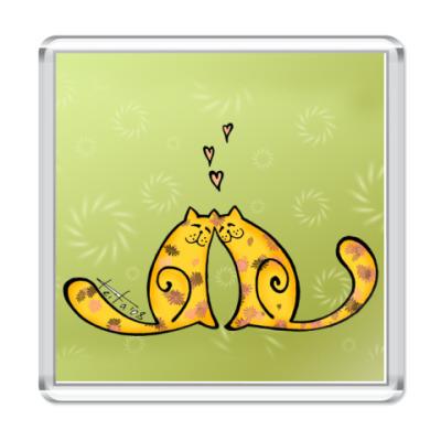 Магнит  Влюблённые коты