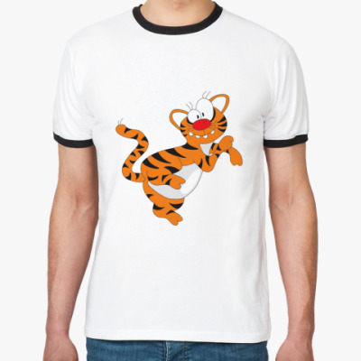 Футболка Ringer-T Funny tiger