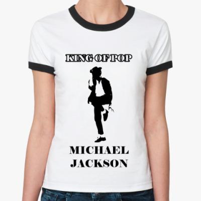 Женская футболка Ringer-T 'Майкл Джексон'