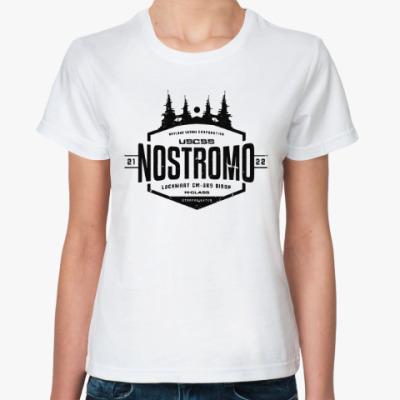 Классическая футболка Чужой. Nostromo