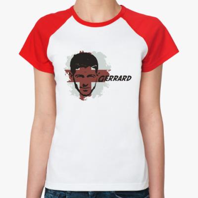 Женская футболка реглан Джеррард