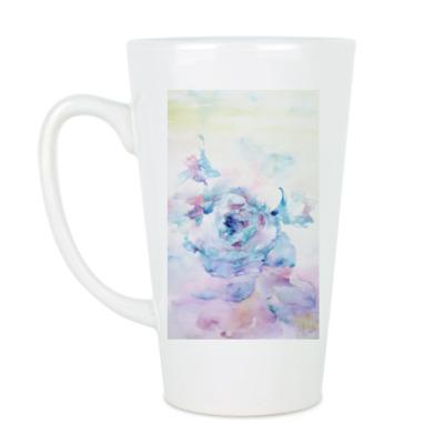 Чашка Латте Снежная роза