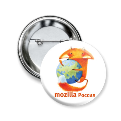 Значок 50мм  Mozilla Rus small