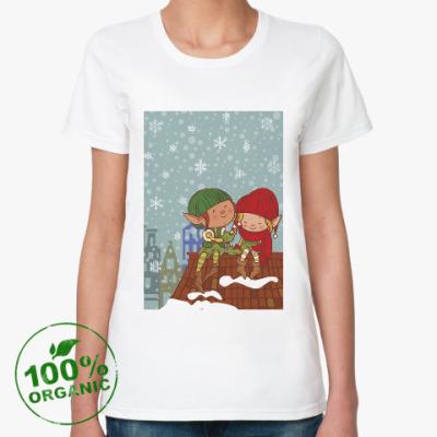 Женская футболка из органик-хлопка эльфы