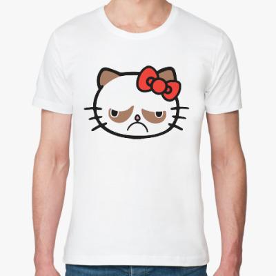 Футболка из органик-хлопка Hello Grumpy Cat