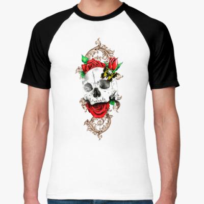 Футболка реглан Skull&Roses