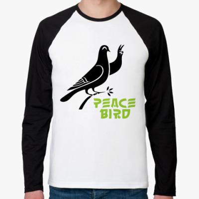 Футболка реглан с длинным рукавом Peace Bird