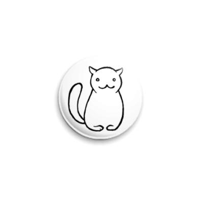 Значок 25мм аутичный кот