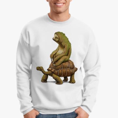 Свитшот Ленивец на черепахе