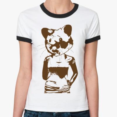 Женская футболка Ringer-T   HAMSTER