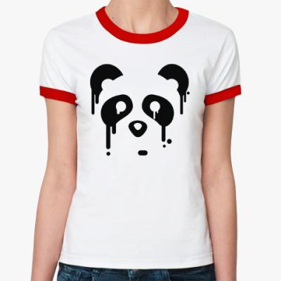 Женская футболка Ringer-T Унылая панда