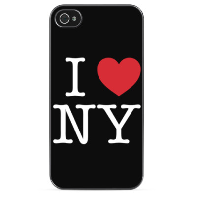 Чехол для iPhone  I love NY