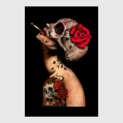 Постер Sugar skull girl