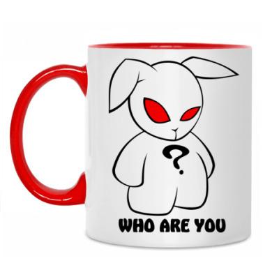 Кружка Заяц - кто ты?