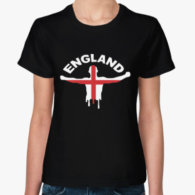 Женская футболка  Англия