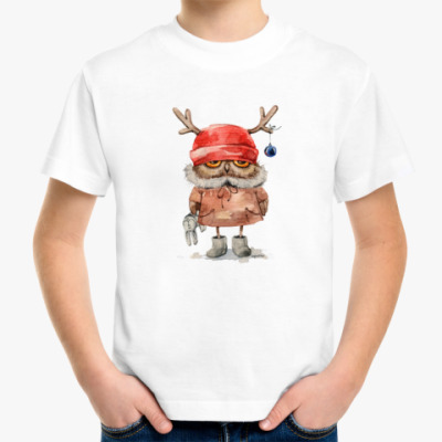 Детская футболка Сова с рожками