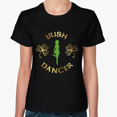 Женская футболка Irish dancer girl