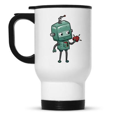 Кружка-термос Робот с сердцем