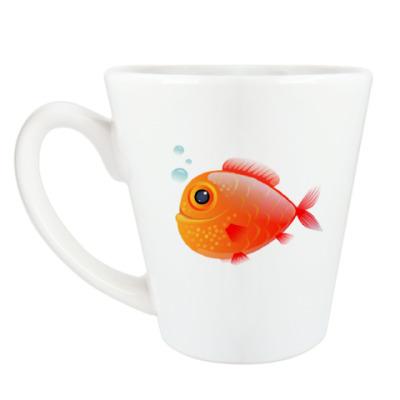 Чашка Латте Довольная рыба