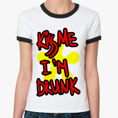Женская футболка Ringer-T kiss me