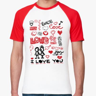 Футболка реглан Love mix