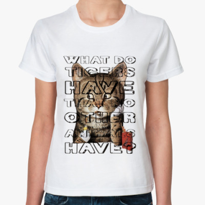 Классическая футболка Кот с сигаретой