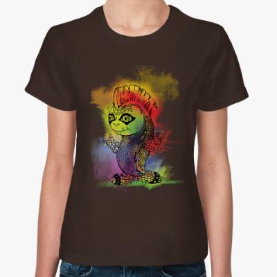 Женская футболка Рыбка-панк