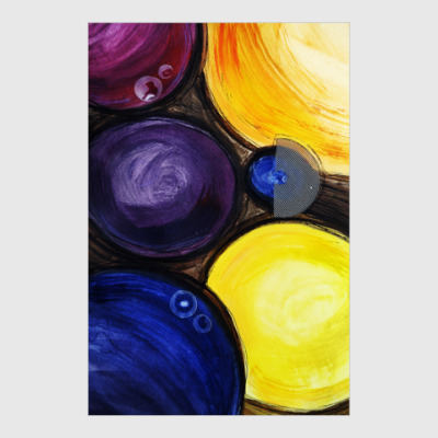 Постер Яркие круги