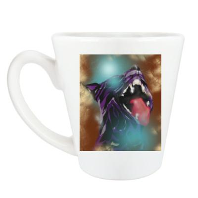 Чашка Латте Пантера