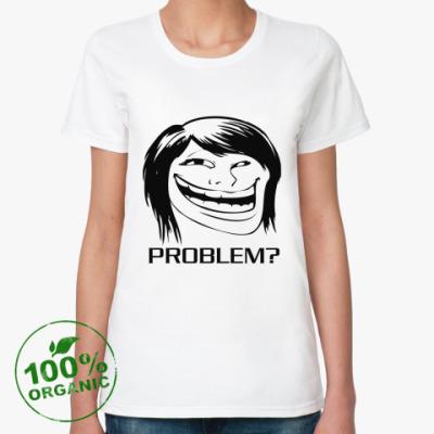 Женская футболка из органик-хлопка GirlTroll