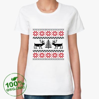 Женская футболка из органик-хлопка Олени