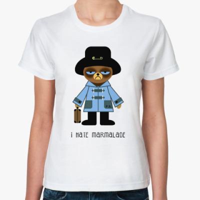 Классическая футболка Grumpy Paddington