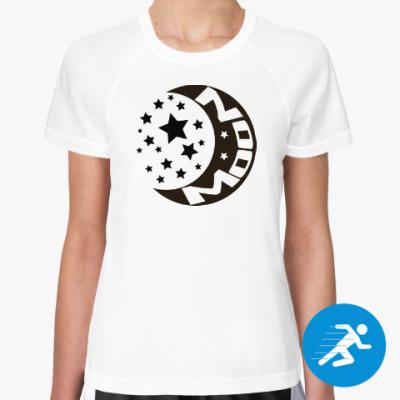 Женская спортивная футболка Луна и Солнце