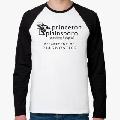 Футболка реглан с длинным рукавом  Princeton plainsboro