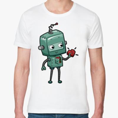 Футболка из органик-хлопка Робот с сердцем