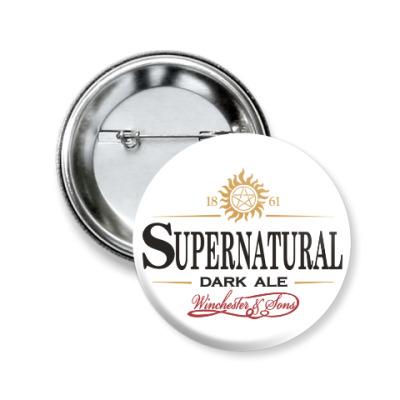 Значок 50мм Supernatural - Темный эль