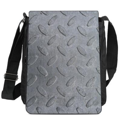 Сумка-планшет Металлическая текстура