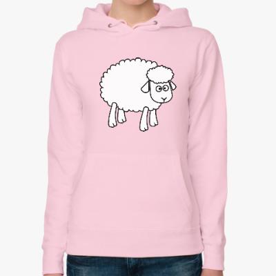 Женская толстовка худи Овца