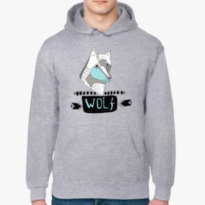 Толстовка худи 'Волк'