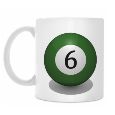 Кружка 'Бильярдный шар 6'