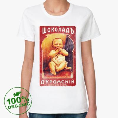 Женская футболка из органик-хлопка Росийская тематика