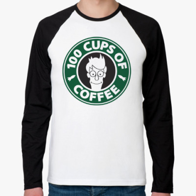 Футболка реглан с длинным рукавом Futurama coffee Starbucks