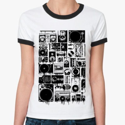 Женская футболка Ringer-T Audio
