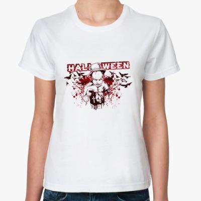 Классическая футболка Bloody Halloween Ж