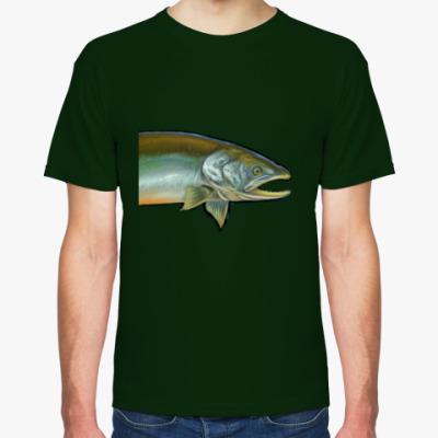 Футболка рыба лосось
