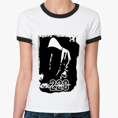 Женская футболка Ringer-T Рэпер 228